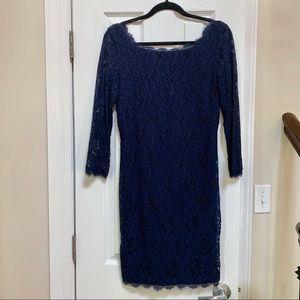 Classic Navy Diane Von Furstenberg Dress